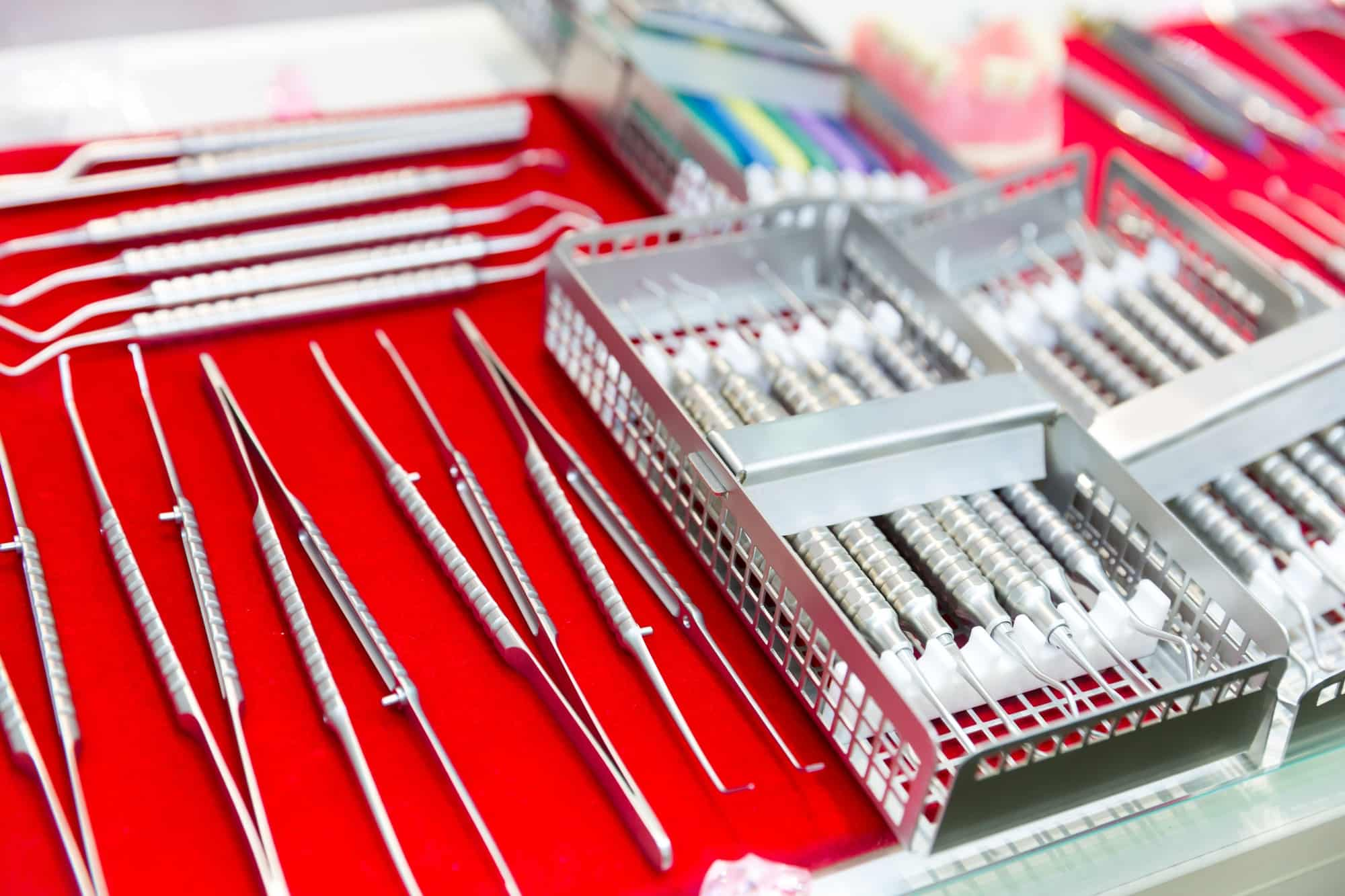 Medicine equipment, dental instrument macro view